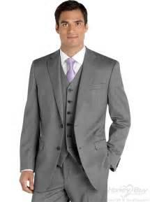wedding suit for 3 pieces notch lapel grey best wedding suits
