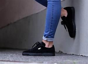 Nettoyer Puma Suede : puma suede classic en daim noir femme 1 sneakers pinterest je pense je vais et all es ~ Melissatoandfro.com Idées de Décoration