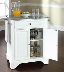 Portable Island Kitchen Buy Lafayette Solid Granite Top Portable Kitchen Island W Bracket
