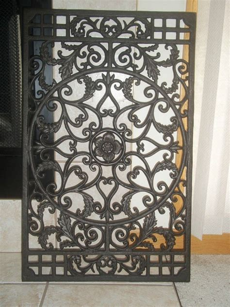 wrought iron garden scroll wall decor grille on