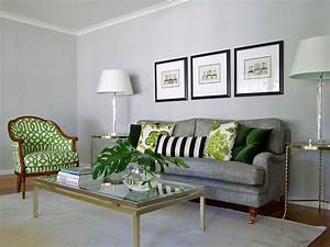 Photos hgtv for Green and grey living room