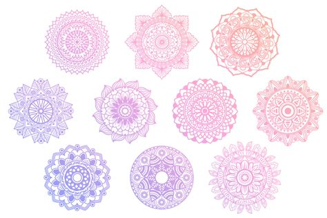 Mandala svg clipart floral files for cricut explore 320646. Mandala SVG Cut File Bundle II - 25 files