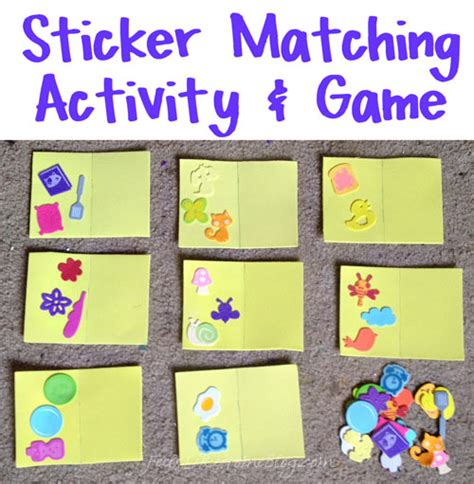 sticker matching activity amp for preschoolers 821 | preschool sticker matching title