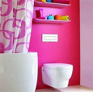 Deco Wc Gris : toilettes rose ~ Melissatoandfro.com Idées de Décoration