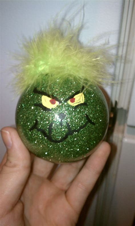 grinch ornament handmade christmas pinterest