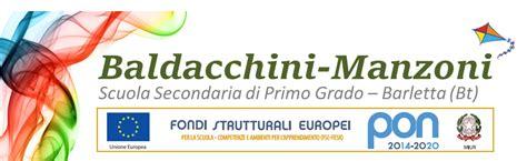 Scuola Baldacchini Barletta by Quot Baldacchini Manzoni Quot Scuola Secondaria Di Primo Grado