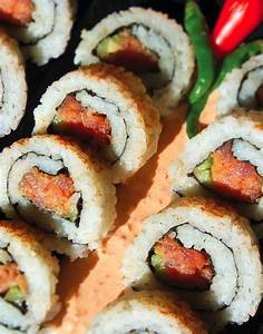 Recipe: Spicy Tuna Roll Ingredients SUSHI RICE 5 cups ...