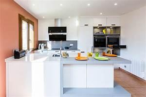 cuisine blanche avec ilot central ctpaz solutions a la With meuble de cuisine ilot central 0 cuisine leicht et lineaquattro
