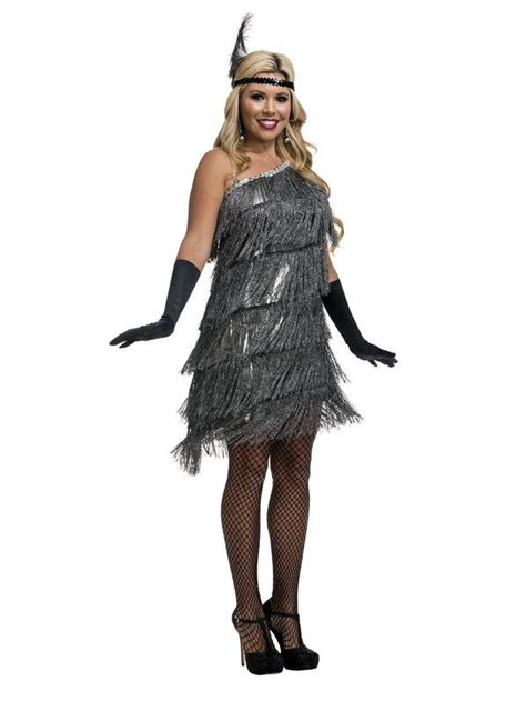 slant fringe womens flapper costume adult