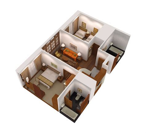 two bedroom apartments 2 bedroom superior apartment serviced apartments in 13673   2 bedroom superior serviced apartment singapore treetops 3d layout