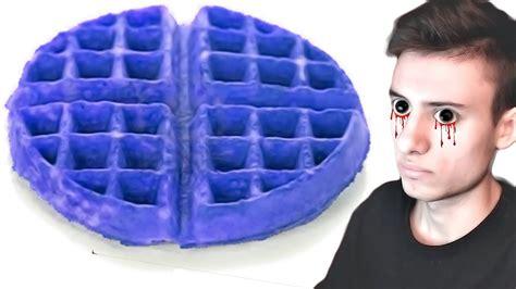 blue colored waffle googling blue waffles disease
