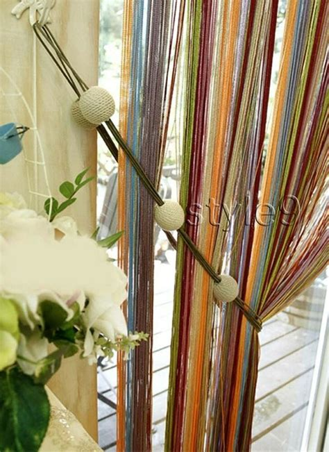 multi color curtains multi color string curtain fringe panel room divider ebay