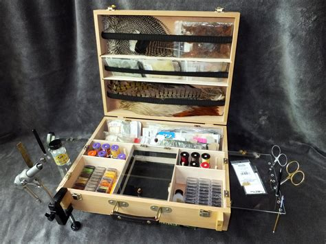 portable fly tying desk plans tie anywhere portable fly tying box bench