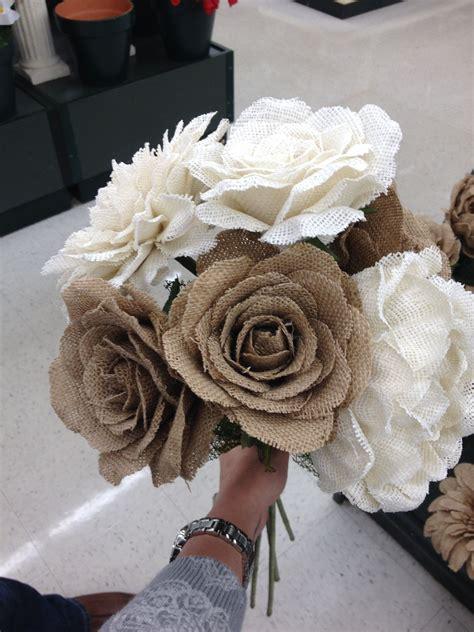 burlap flowers hobby lobby wedding pinterest diy