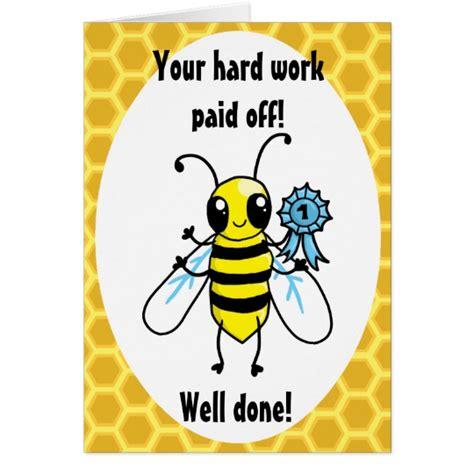 busy bee work congratulations card zazzle