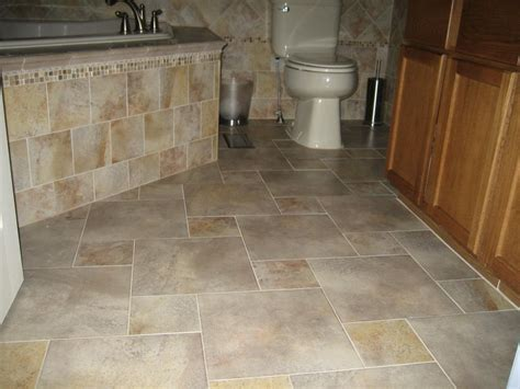 completed porcelain tile floor with a pinwheel pattern