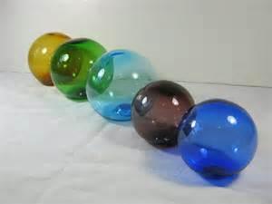 vintage blown glass orbs decorative balls by lavendergardencottag