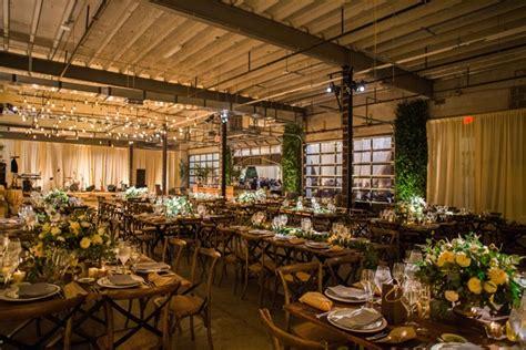 warm cozy wedding at unique warehouse venue in