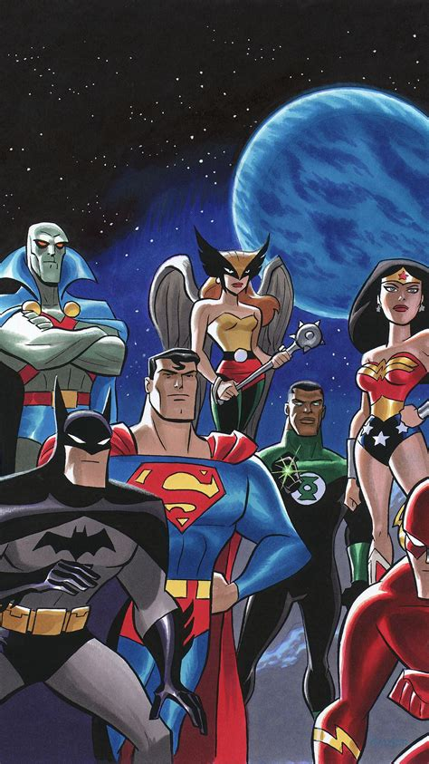 Justice League Animated Wallpaper - justice league phone wallpaper moviemania