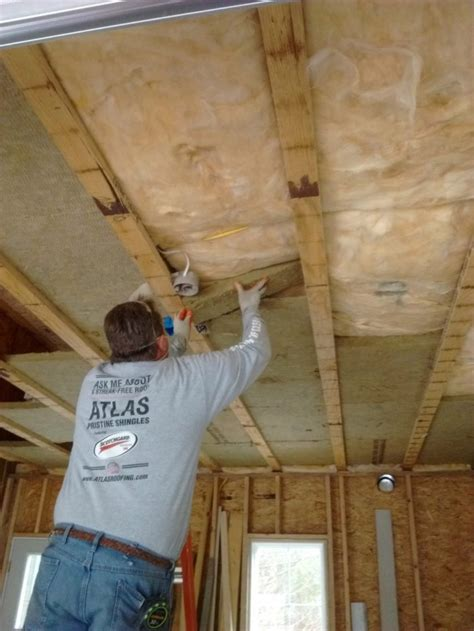 Insulating A Vaulted Ceiling Ideas Anyone by Insulation Garage Insulation Homebuilding