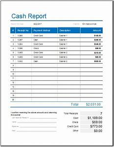 daily cash report template for ms excel word excel With liquidity report template