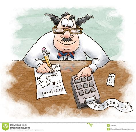 calculatrice de bureau comptable illustration stock image du comptable budget