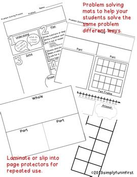 problem solving math mats and resources for k 2 by simply in