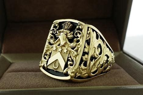 robert michael furniture reviews handmade mens ring crest ring by 3dheraldry custommade com