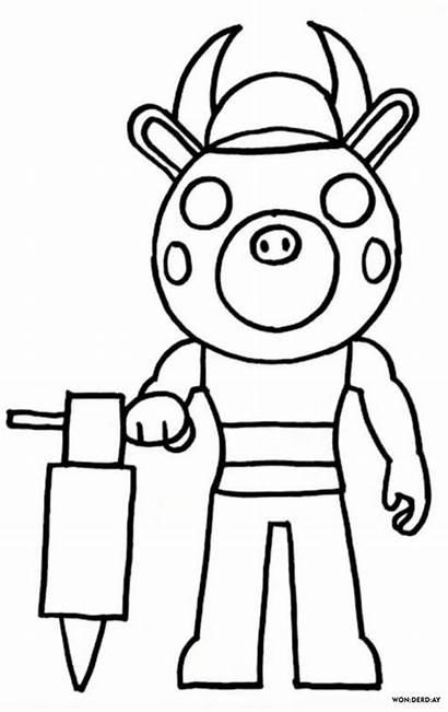 Coloring Piggy Roblox Adopt Colorear Dibujos Colouring