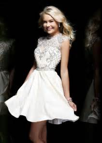 robe pin up mariage sherri hill 4300 ivory beaded homecoming dresses the prom dresses