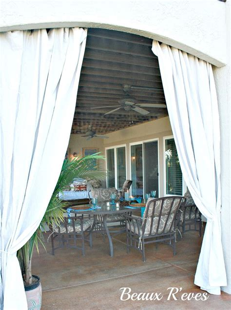 Inexpensive Patio Curtain Ideas by Hometalk Inexpensive Outdoor Curtains Using Curtain Rods