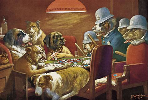 Cassius M. Coolidge's Dogs Playing