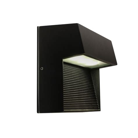 bazz black outdoor led wall lighting w14780b the home depot