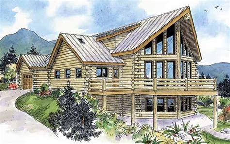 A Frame Log Cabin Floor Plans by 2 Bedroom 2 Bath A Frame House Plan Alp 097u
