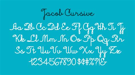 Jacob Cursive Font