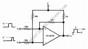 gt circuits gt bi stable multivibrator rs flip flop with op With opamp multivibrator