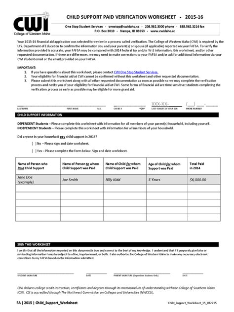 Child Support Forms  31 Free Templates In Pdf, Word, Excel Download