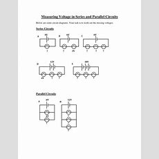 Seriesparallel Circuit Voltage Worksheet By Fdedat  Teaching Resources