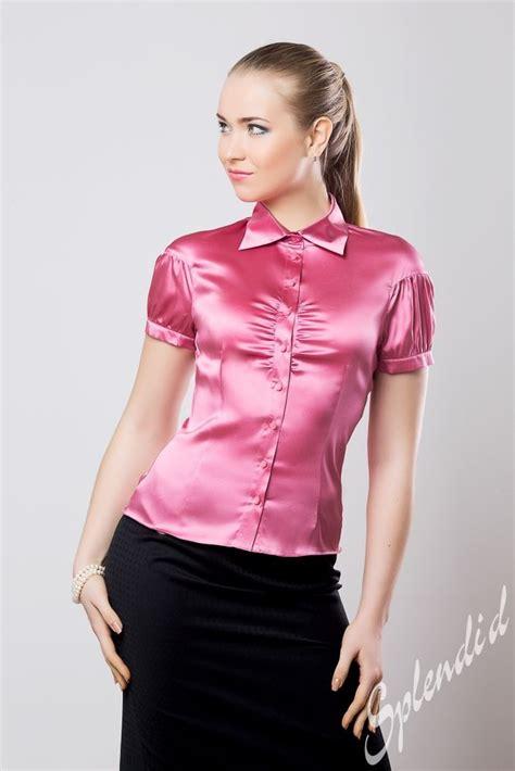 pink blouses black pencil skirt and pink satin blouse satin blouse
