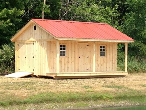 Pole Barns Built On Site X Shed With Porch Metal Roof