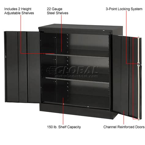 Tennsco Metal Storage Cabinet 36x24x72 Black by Cabinets Wall Mount Counter Height Tennsco Counter