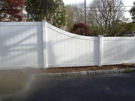 tapered vinyl privacy fencing vinyl fence pinterest