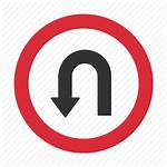 Turn Traffic Signs Circle Warning Icons