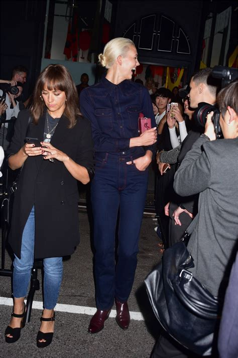 Karlie Kloss Outside The Calvin Klein Fashion Show Nyfw