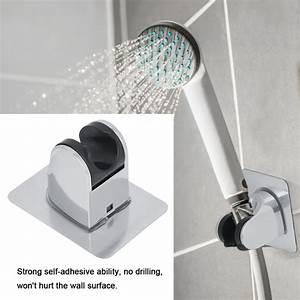 ylshrf, shower, head, bracket, shower, head, holder, adjustable, chromeplated, self