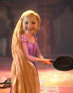 Lila with frying pan - Princess Rapunzel (from Tangled ...