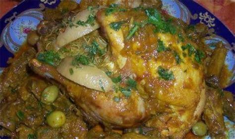 cuisine marocaine poulet farci poulet roti farci a la vermicelle chinoise