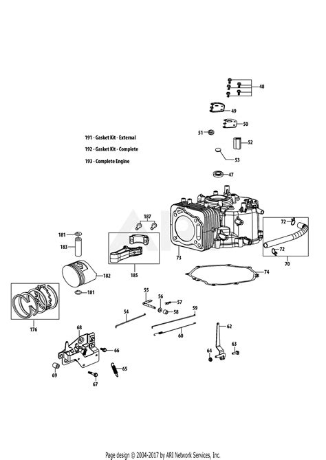 4 Engine Diagram by Troy Bilt 4p90hu Engine Parts Diagram For 4p90hu Crankcase
