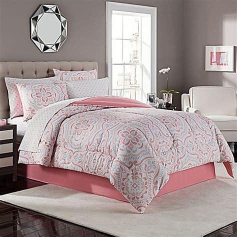 juniper comforter set  coralgrey bed bath