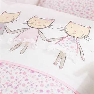 Bettwäsche Kinderbett 100x135 : alvi bettw sche 100x135 cm cats rosa ~ Markanthonyermac.com Haus und Dekorationen